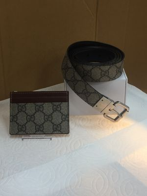 GUCCI MONOGRAM WALLET WITH REVERSIBLE BELT for Sale in San Francisco, CA
