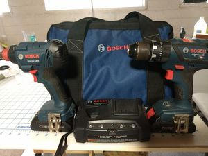 Bosch 18v Hammer Drill & Freak impact driver for Sale in Decatur, TX