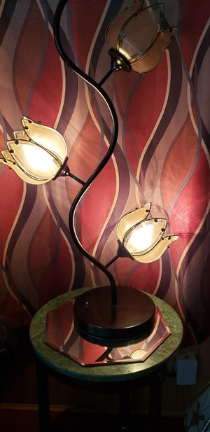 Beautiful tulip lamp. Top light doesn't work. Don't know if it's the bulb or what. But the others work good. for Sale in Kingsport, TN
