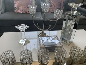 MOVING!!!! Only 2 LEFT (Beautiful Crystal Beaded Candle Holders) Pricing listed in Ad for Sale in Ashburn, VA
