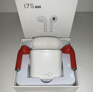 Red EarPods i7S TWS (( 2 Boxes $20 )) for Sale in Corona, CA