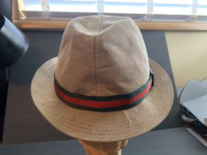 Authentic 90's khaki GUCCI Fedora size M for Sale in West Linn, OR