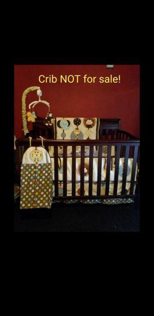 Jungle theme crib set for Sale in San Antonio, TX