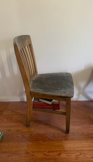 Antique oak school chair for Sale in Lincoln Acres, CA