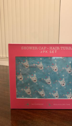 Shower Cap and Hair Turban Shower Set for Sale in San Jose, CA