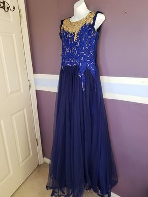 Navy blue long gown dress for Sale in Mundelein, IL
