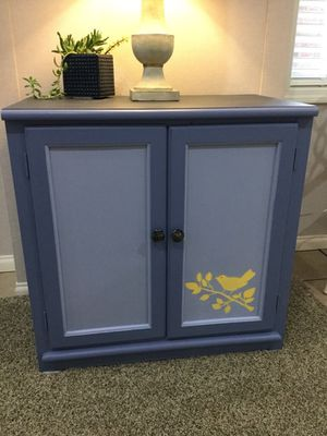 Hand Painted 3-Tone Cabinet in Blue Jean Colors for Sale in Venetia, PA