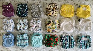 18 Newborn AIO Cloth Diapers for Sale in Los Angeles, CA