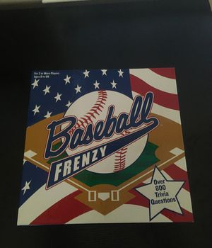 Baseball frenzy trivia game for Sale in Hayward, CA