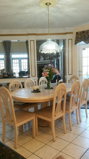Gorgeous custom made solid maple wood dining set for Sale in Colesville, MD