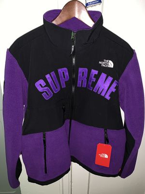 629594a7 Supreme The North Face Arc Logo Denali Fleece Purple for Sale for sale  Bronx, NY