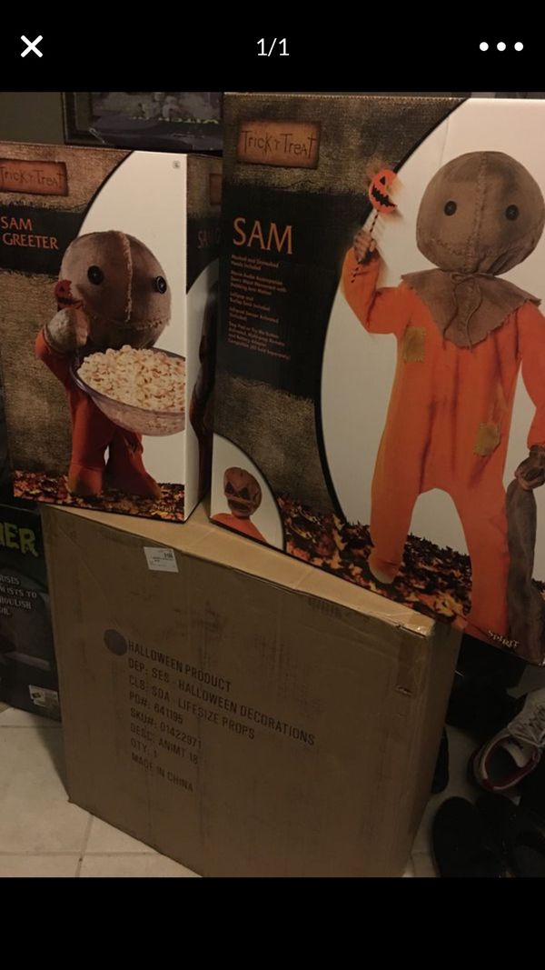 Spirit Halloween Sam Trick r Treat Animatronic & Greeter SOLD OUT!!!
