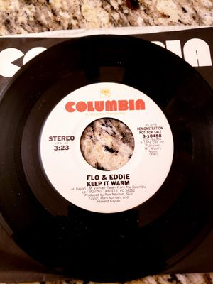 1976 45rpm DJ Promo Record FLO AND EDDIE - Keep It Warm for Sale in Arvada, CO