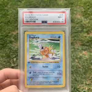 Magikarp 1st Edition Shadowless Base Set PSA 9 WOTC 1999 35/62 Pokemon for Sale in Norco, CA