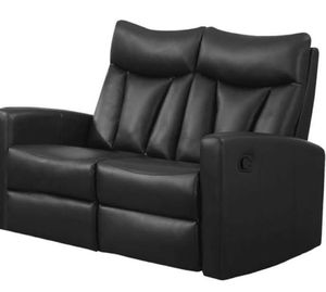 Black leather recliner , reclining loveseat, corner desk with hutch , end table for Sale in Dulles, VA
