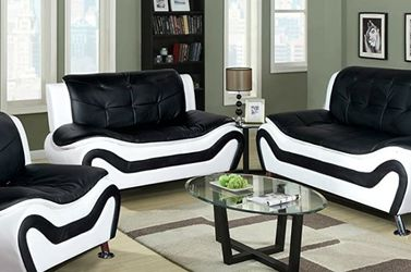 New Black & White Sofa set 3pc for Sale in Kent,  WA