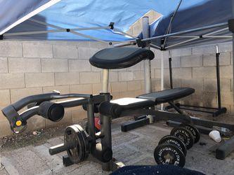 Platinum Gold Gym Bench Press set for Sale in Las Vegas,  NV