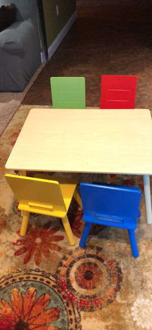 Table and chair for kids for Sale in Bristow, VA