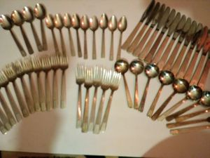 Vintage lot of Conrad Hilton Hotel silver plated silverware 54 pieces for Sale in Albany, OR