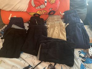 Boys size 8 uniform pants elastic waist and ankles 9 pairs for Sale in Lorain, OH