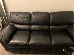 La-Z-Boy Black Leather Recliner Sofa for Sale in Escondido, CA