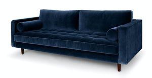 Beautiful blue velvet couch for Sale in Alexandria, VA