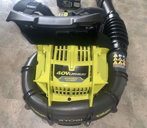 RYOBI 145 MPH 625 CFM 40-Volt Lithium-Ion Cordless Backpack Blower 6 Ah Battery and Charger Included for Sale in Azusa, CA