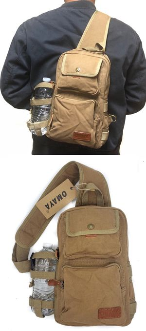 Brand NEW!Tan Handy Canvas Travel Crossbody/Side Bag/Sling/Pouch For Everyday Use/Traveling/Hiking/Biking/Outdoors/Sports/Parties/Gym/Work/Gifts for Sale in Carson, CA