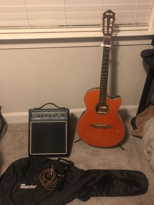 Ibanez acoustic electric guitar w/ extras for Sale in Knightdale, NC