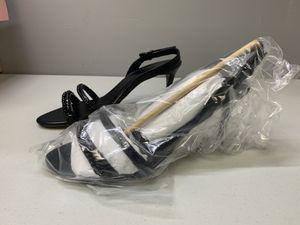 Michael Michael Kors Jackie Mid Sandal Heels Leather Black 9 NIB for Sale in Tyrone, GA