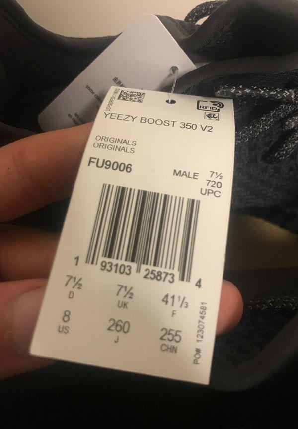 Adidas Yeezy Boost 350 Pirate Black Size 8