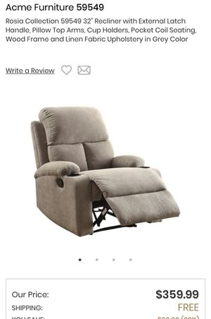 New gray recliner for Sale in San Gabriel, CA