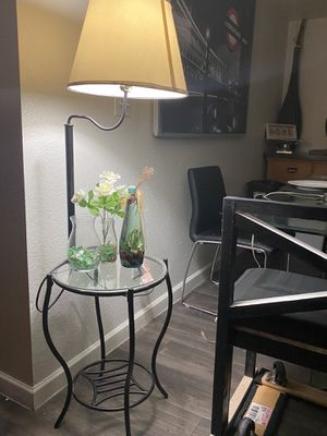 Nightstand with lamp for Sale in Tempe, AZ