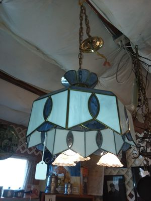 HANGING LIGHTS VINTAGE STAIN GLASS for Sale in Snohomish, WA