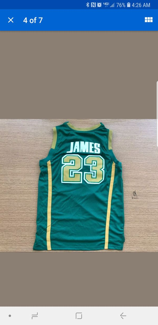 Lebron James Highschool Jersey never worn w/stitched in print