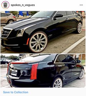 Cadillac vogue tires and rims for sell four M+S 245/40R18 for Sale in Humble, TX