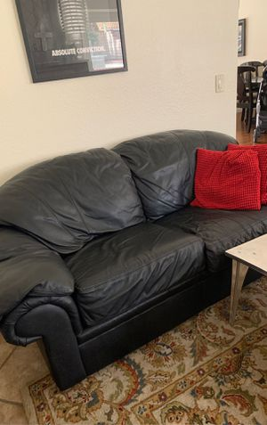 Real leather sofa for Sale in Chino, CA