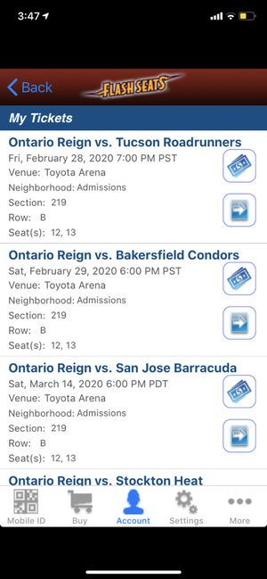 Ontario Reign hockey tickets for Sale in Redlands, CA