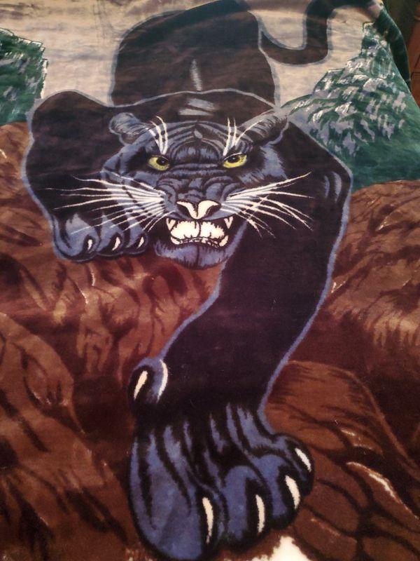 Black Panther Korean Mink Fur Blanket