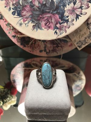 Pretty!!! Silver Turquoise Ring for Sale in Gainesville, VA