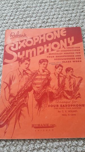 Rare, sheet music for saxophones for Sale in Seattle, WA