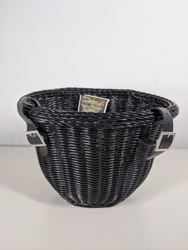 Colorbasket Front Handle Bar Adult Bike Basket, Water Resistant, with Leather Straps