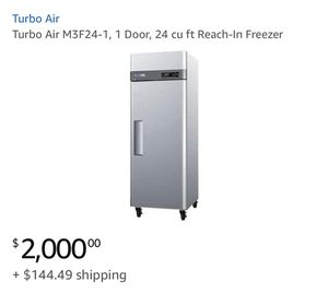 Turbo Air - M3F24-1, 1 Door, 24 cu ft Reach-In Freezer for Sale in MONTGOMRY VLG, MD