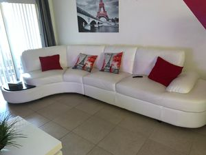 White Leather Couch for Sale in Kissimmee, FL