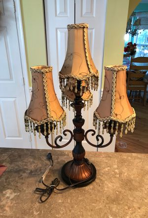 Vintage candelabra table lamp for Sale in Hamilton Township, NJ