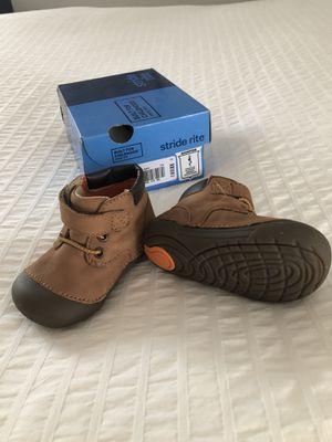 Stride Rite Brown Sneakers Sz 4 Wide for Sale in Rockville, MD
