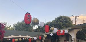 Japanese paper lanterns & photo booth props for Sale in Los Angeles, CA