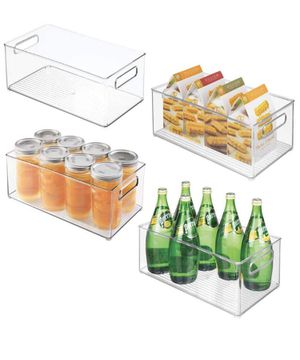 """mDesign Deep Plastic Kitchen Storage Organizer Container Bin with Handles for Pantry, Cabinets, Shelves, Refrigerator, Freezer - BPA Free - 14.5"""" Lon for Sale in Fontana, CA"""