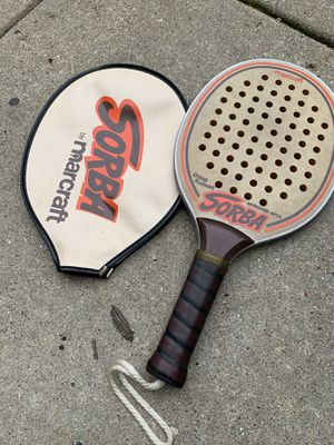 Authentic Sorba tennis paddle racket by Marcraft for Doug Russell made in the USA with matching case for Sale in Chicago, IL