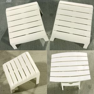Patio Side Table & Foot Rests (White Resin) for Sale in Boston, MA